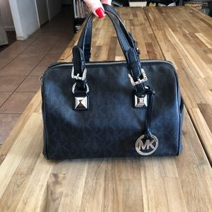 Michael Kors Black and Gray Grayson Bag